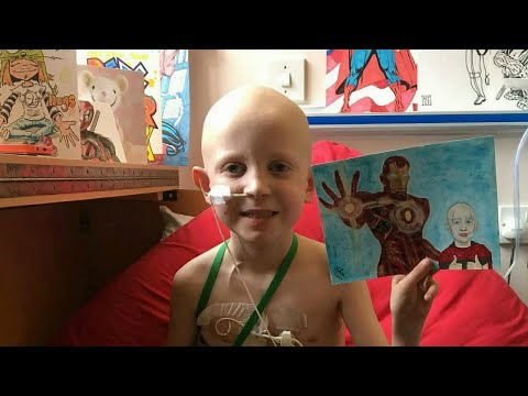 7-Year-Old Boy with Cancer Gets Superhero Art from Strangers Around the World