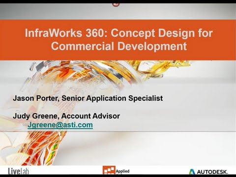 InfraWorks 360: Concept design for Commercial Development