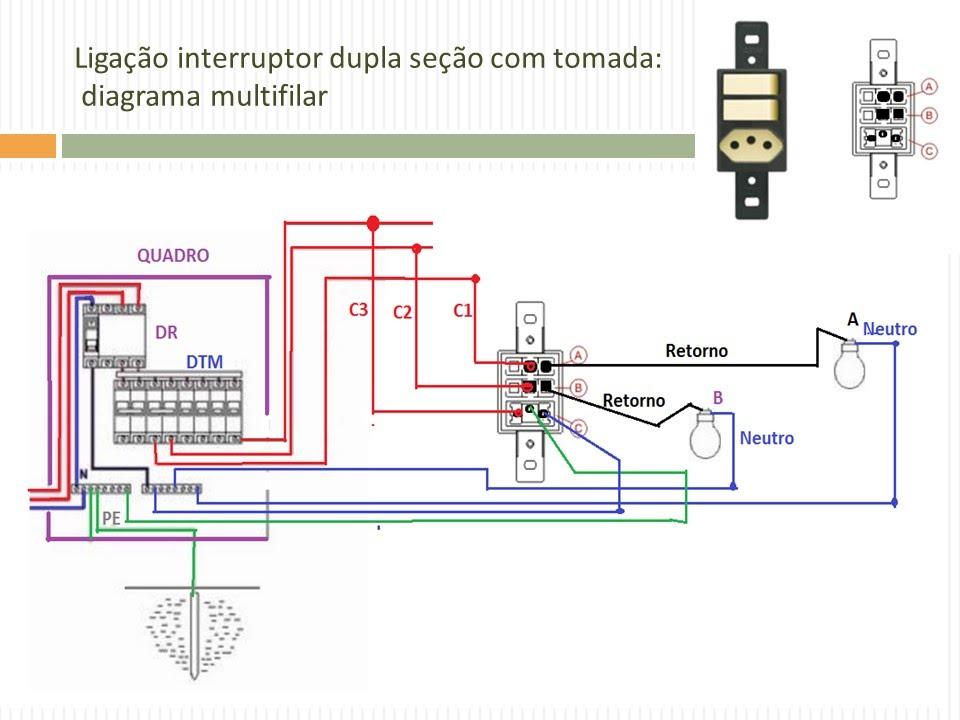 a 135 diagrama de liga u00c7 u00c3o interruptor de dupla se u00c7 u00c3o e tug 10a em circuitos distintos youtube manual basico de electricidad residencial pdf manual de electricidad residencial pdf gratis