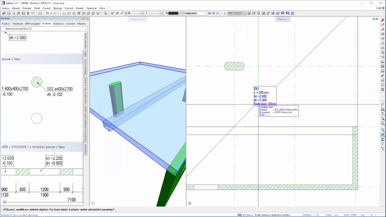 02 Allplan 2017 Betonove Konstrukce Vykres Tvaru Youtube