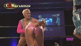 WSU Women's Wrestling: The Fella Twins violently whip Maria Manic (CZWstudios.com)