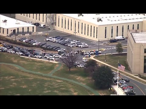 Chopper Above The Scene At Walter Reed Military Medical Center Following Reports Of An Active Shoote