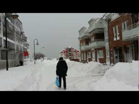 Kristiansand (Norway), Markensgata, with snow 24.12.12