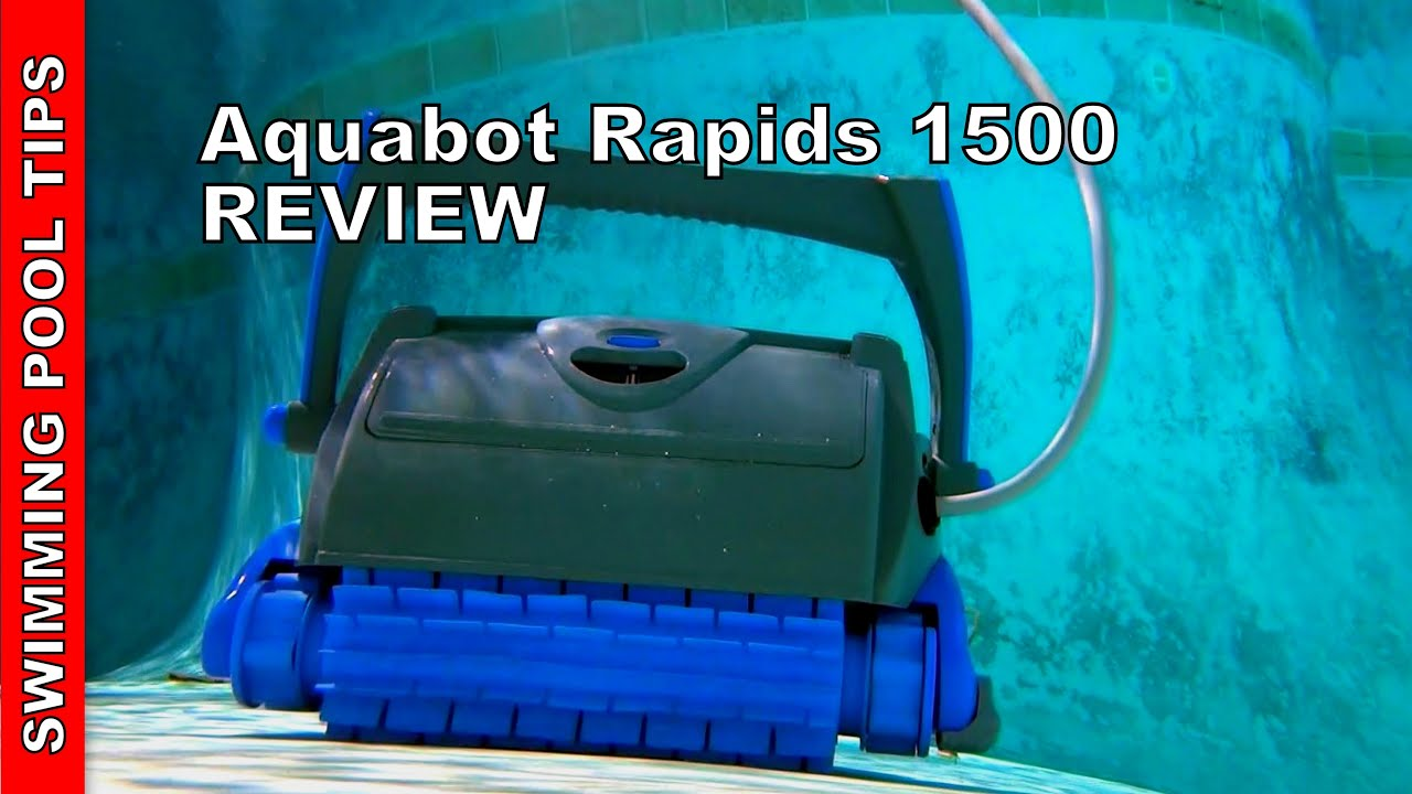 Aquabot Rapids 1500 Robotic Pool Cleaner Review Youtube