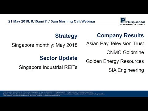Market Outlook - Singapore Company Results and Industrial REITs
