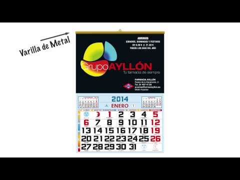 Calendarios de Pared con Faldillas 2014