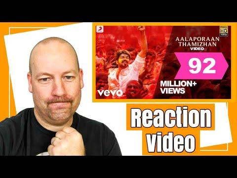 Aalaporan Thamizhan Song   REACTION   Vijay