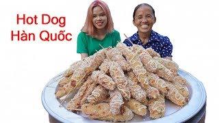 Bà Tân Vlog - Làm Đĩa HOT DOG Hàn Quốc Siêu To Khổng Lồ