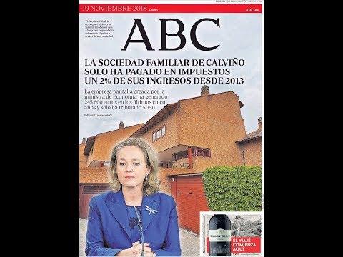 #Noticias Lunes 19 Noviembre 2018 Titulares Portada Diarios Periódicos España Spain #News
