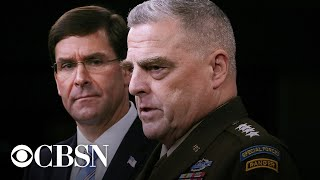 Watch Live: Esper, Milley Testify On Law Enforcement At House Committee Hearing