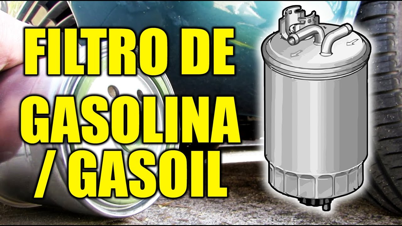 Cambiar el FILTRO DE GASOLINA O GASOIL - YouTube