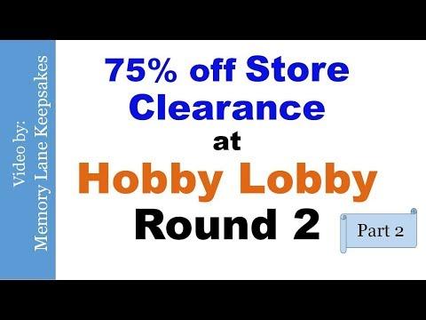 Hobby Lobby Haul Round 2 Part 2