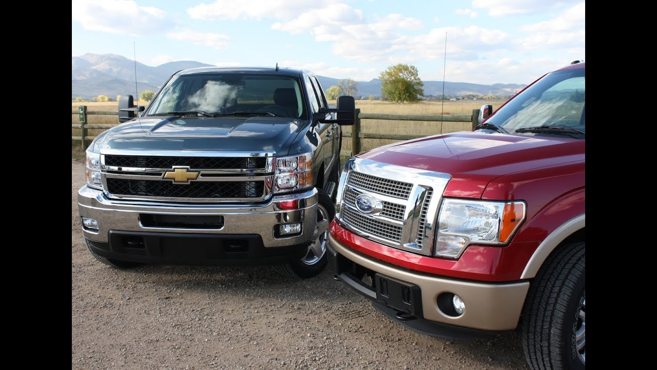 Silverado vs f150 ford f 150 ecoboost vs chevy silverado duramax pick up mashup