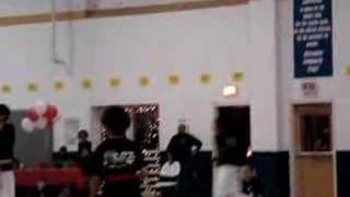 TKD Winter Demo Basic Kick & Running Jump Kick Break