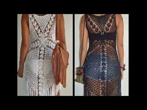 198d59d3c crochet blusa o vestido para playa - YouTube