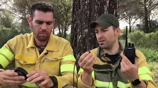 Trabajar en Incendios Forestales  y uso de PMR con Gerardo Garcia