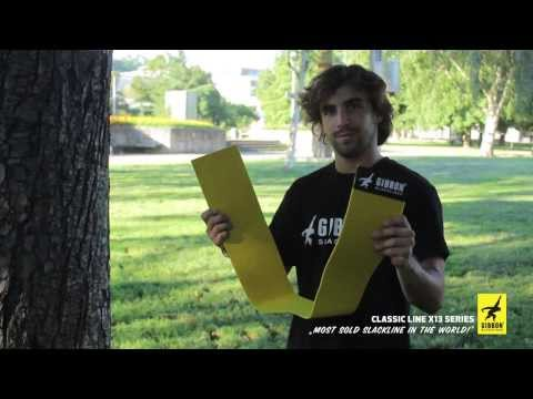 Video: Slackline Gibbon® « Classic X13 »