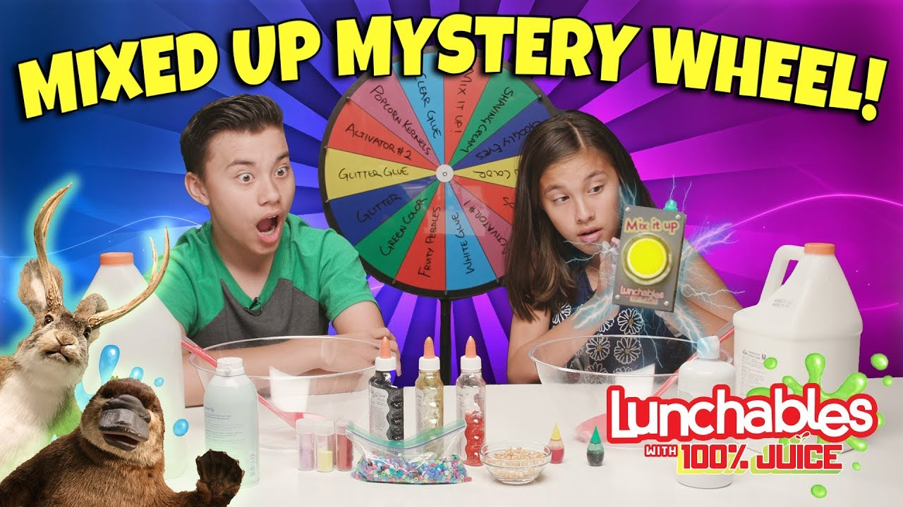 MYSTERY WHEEL OF SLIME (BLINDFOLDED and MIXED UP CHALLENGE)