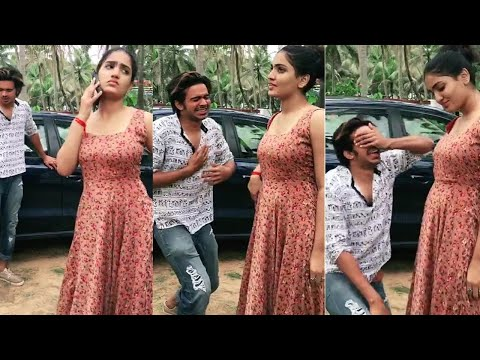 Saniya Iyyappan New Funny dubsmash with Sabith