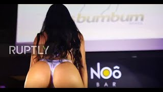 Video CHEEKy! Miss BumBum contestants put on a cracking show download MP3, 3GP, MP4, WEBM, AVI, FLV November 2018