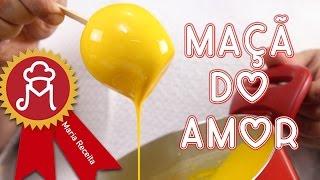 Maçã do Amor amarela, verde, azul, vermelha...... COLORIDA.