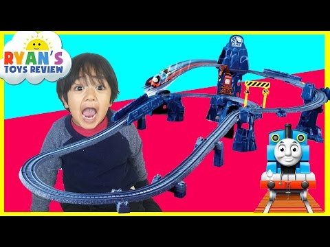 Thumbnail: Thomas and Friends Toy Trains for kids TrackMaster Risky Rails Bridge Drop Ryan ToysReview