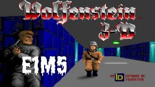 Wolfenstein 3D (100%) Walkthrough (E1M5)