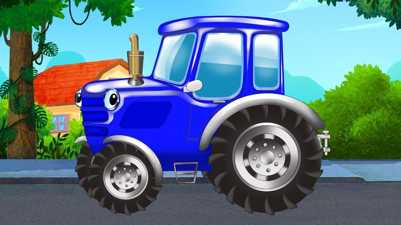 Песенки для детей - Едет трактор - Синий трактор - Мультик ...