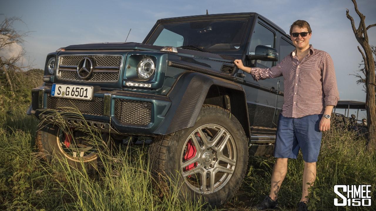 mercedes-maybach g 650 landaulet on safari! - youtube