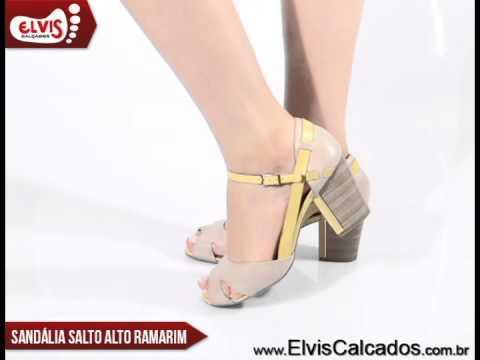 53686394d Sandália Salto Alto Ramarim Total Comfort 14-73202 - YouTube