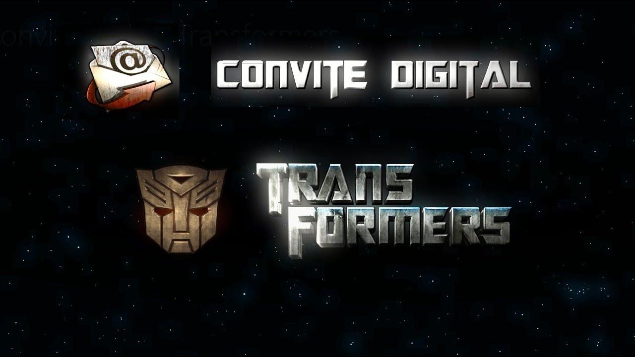 Modelo De Convite Digital Com O Tema Transformers Youtube