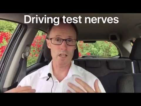 How to calm yourself before your driving test