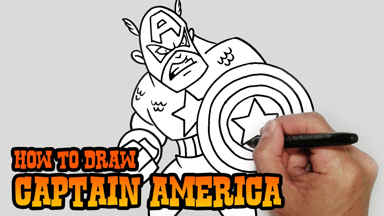 How to Draw Captain America- Video Lesson - YouTube