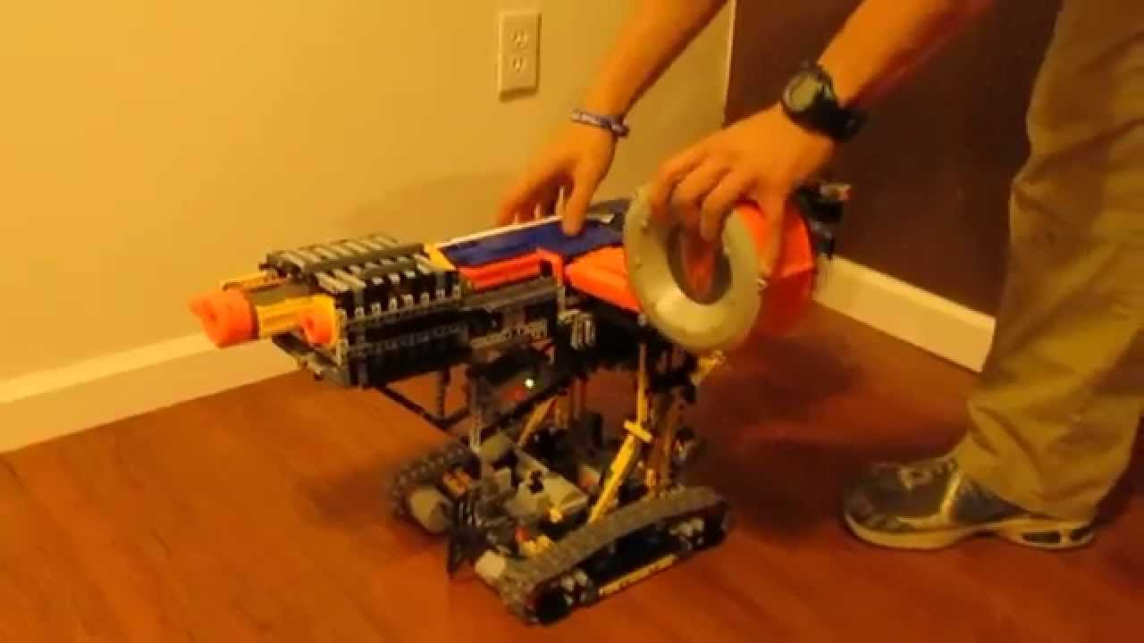 Fully Automatic Nerf Tank W Drum Mag Lego Technic Power