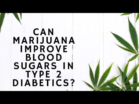 Can marijuana improve blood sugars in type 2 diabetics?