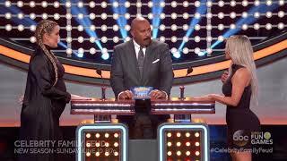 Steve Harvey - Celebrity Family Feud Sneak Peek, Khloe and Kim Meet At Podium