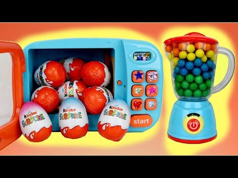 Making Kinder Chocolate Surprise Eggs with Magic Microwave