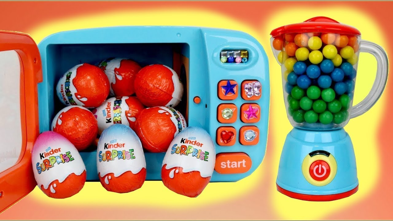 Download Making Kinder Chocolate Surprise Eggs with Magic Microwave