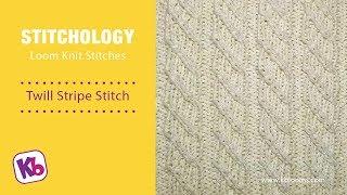 Twill Stripe: Loom Knitting Stitch