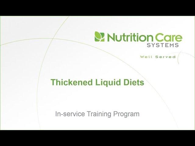 what it thickened liquid diet