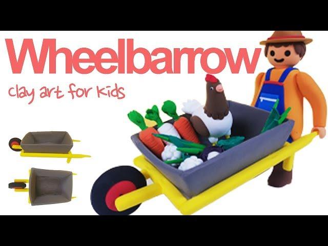 Clay Wheelbarrow For Kids | How To Make A Clay Wheelbarrow | Clay modeling