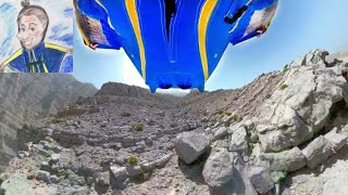 Wingsuit BASE jump in UAE