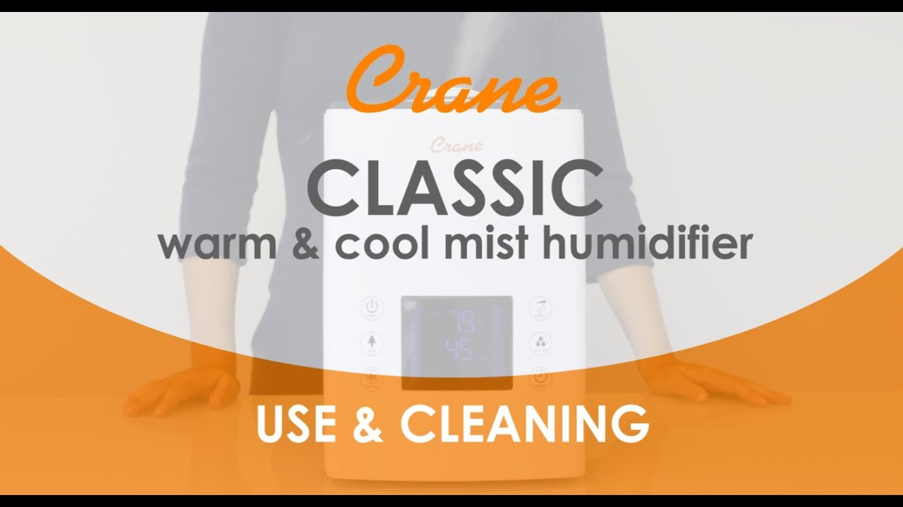 Cranes Warm Cool Mist Humidifier How To Use Clean Youtube