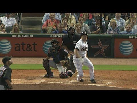 Mike Hampton hits a home run off Johan Santana in 2009