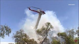 Firefighters Battle Otay Valley River Fire 7/4/2018