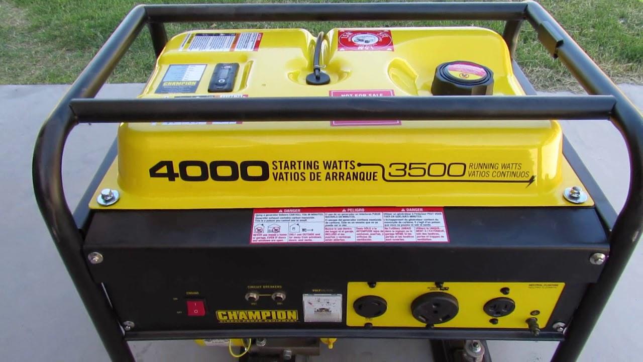4000 Watt Champion Generator Review