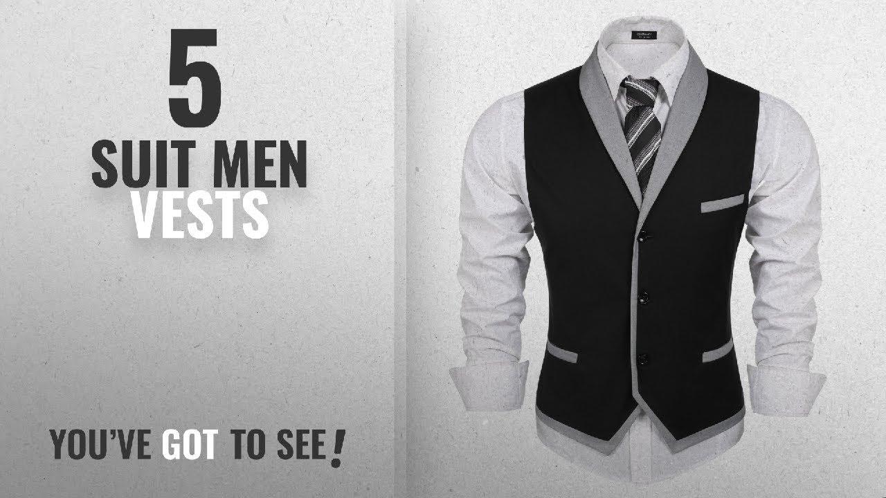 6b486f71101736 Top 10 Suit Men Vests  Winter 2018    Coofandy Men s V-neck ...