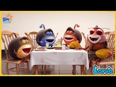 LARVA SPICY NOODLES - Season 1 Episode 101🥟 Full Episode Compilation 🍟 Stop Motion Animation Cartoon