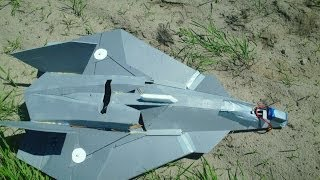 F/A-37 RC Talon prototype , test flight 01, CoG and trimming