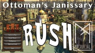 Expert Janissary Rush | Age of Empires 3 | Ottoman Vs Spanish | with commentary | Araucania